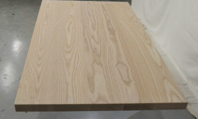 Ash in Light Whitewash with Flat Finish