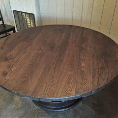 round bistro anchor pedestal table
