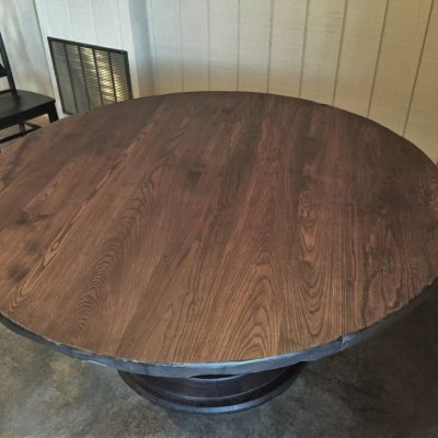 round bistro anchor pedestal table