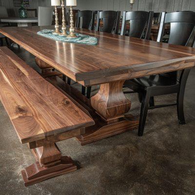Rustic Elements Furniture - Walnut Anchor Pedestal