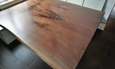 Bookmatch Walnut Slab in Satin Finish
