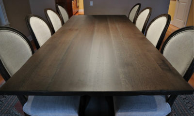 Quarter Sawn White Oak in Charcoal with Satin Finish