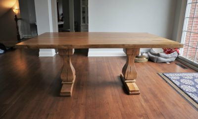 Small Belly Pedestal on 6' Table