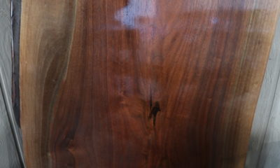 Walnut Slab in High-Gloss Finish