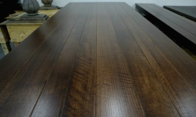 Quarter Sawn White Oak with Ray Flake Detail in Traditional Brown and Satin Finish