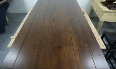 Quarter Sawn White Oak with Heavy Ray Flake in Traditional Brown and Satin Finish
