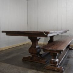 Rustic Elements Furniture - Walnut Anchor Pedestal Table