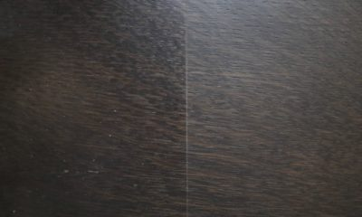 <strong>Black Espresso Stain</strong><br />Left: Satin/Right: Flat