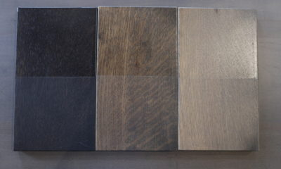 <strong>Black Espresso, Charcoal, & Prado Stain</strong><br>Top: Satin/Bottom: Flat