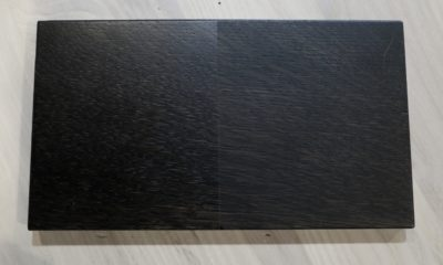 <strong>Black Espresso Stain</strong><br>Left: Satin/Right: Flat