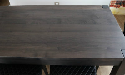 Hard Maple in Espresso Gray with Flat Finish