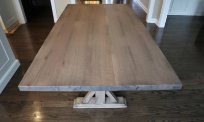 Quarter Sawn Red Oak in Prado with Black Shadow and Flat Finish