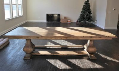 Large Belly Pedestal on 9.5' Table