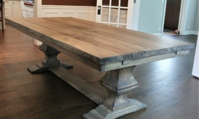 Large Franklin Pedestal on 8' Table