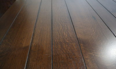 Quarter Sawn White Oak in Traditional Brown with Black Shadow and Satin Finish