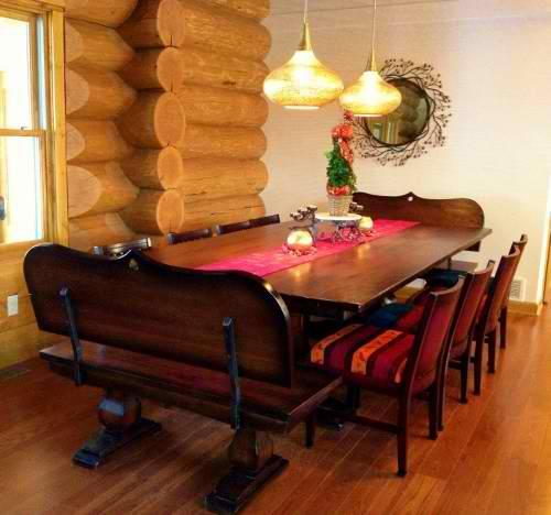 classic pedestal tables joliet il rustic elements furniture. Black Bedroom Furniture Sets. Home Design Ideas