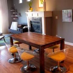 flush leg design tables joliet il rustic elements furniture. Black Bedroom Furniture Sets. Home Design Ideas