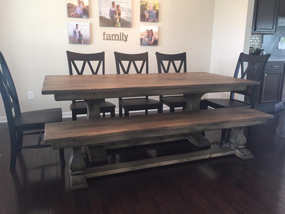 custom belly pedestal table