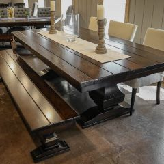 Rustic Elements Furniture - Heavy Anchor Pedestal Table