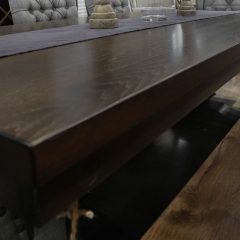 Rustic Elements Furniture - Hickory Anchor Pedestal Table & Bench