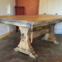 craftsman pedestal farm table