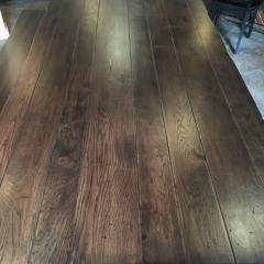 large walnut table