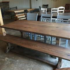 rustic elements wood pedestal table