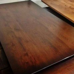 refined wood table