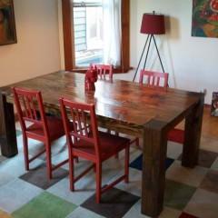 traditional 4 leg wood table