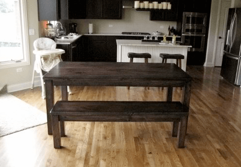 traditional wood table