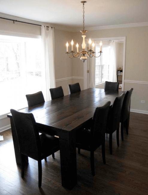 oversized custom wood table