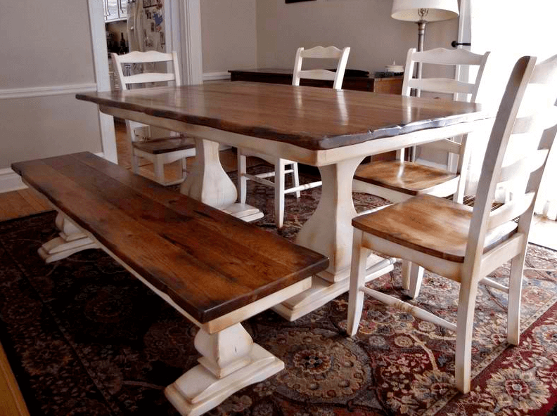 refined pedestal table