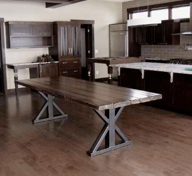custom metal base table