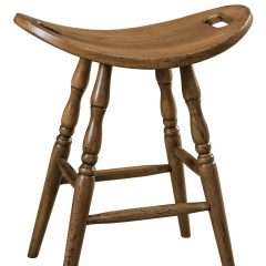 Rustic Elements Furniture - Saddle Stationary Stool