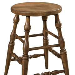 Rustic Elements Furniture - Scoop Stationary Stool