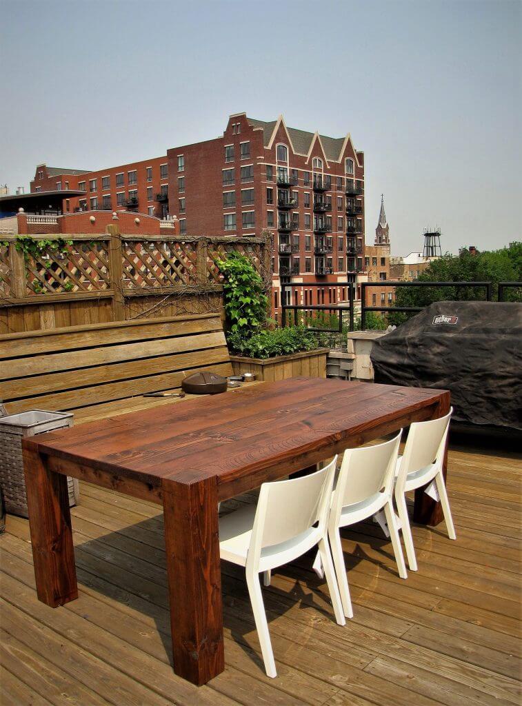 Flush Leg Design Tables Joliet Il Rustic Elements Furniture