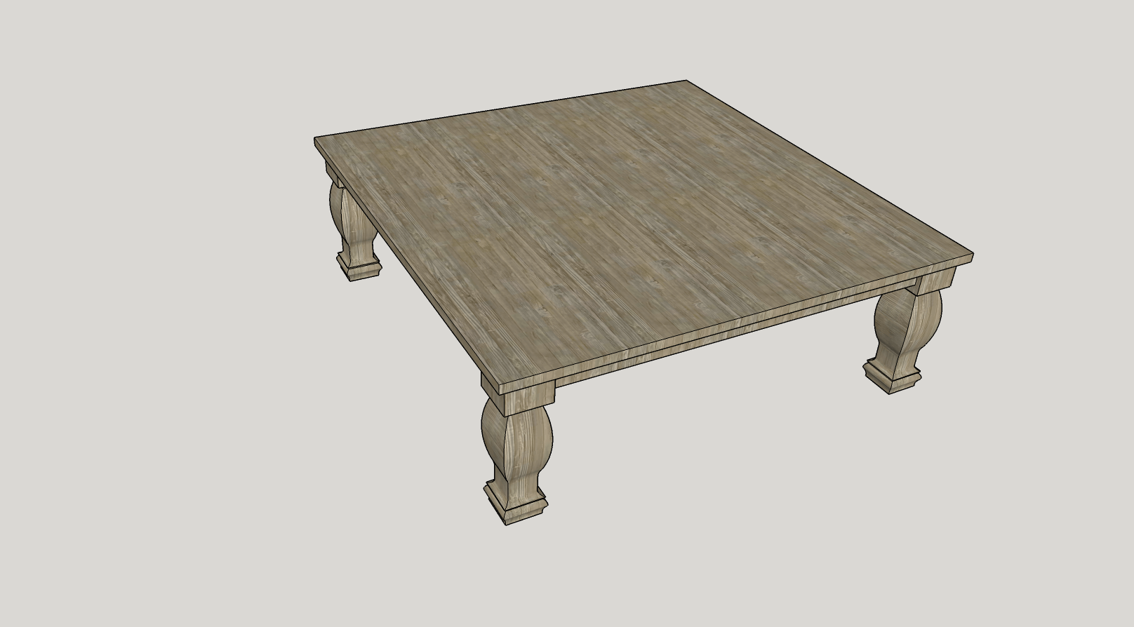 rustic elements table sketch