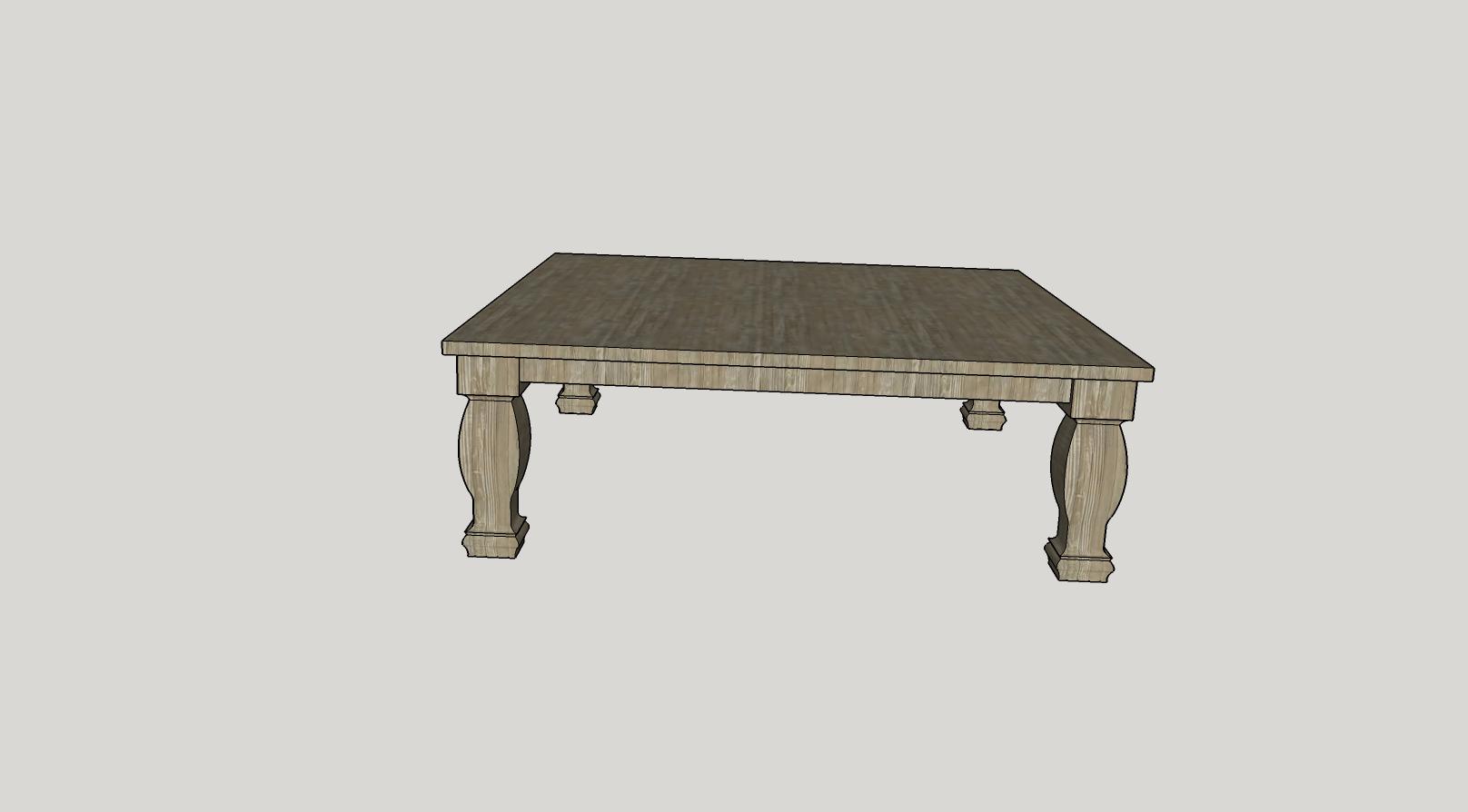 custom square table sketch