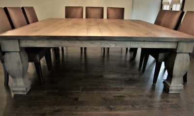 custom square dining table
