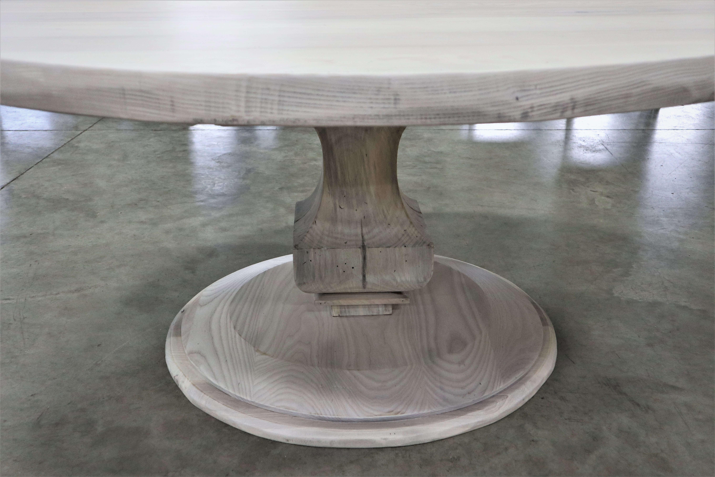 whitewashed wood table