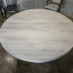 Rustic Elements Furniture - Round Whitewash Table