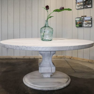Rustic Elements Furniture - Round Anchor Pedestal Table