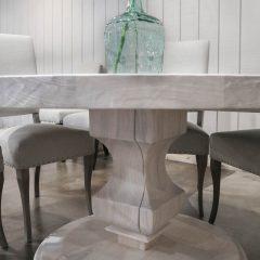Rustic Elements Furniture - Whitewash Anchor Pedestal