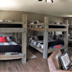 custom wood bunk beds
