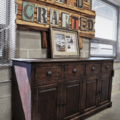 custom wood buffet