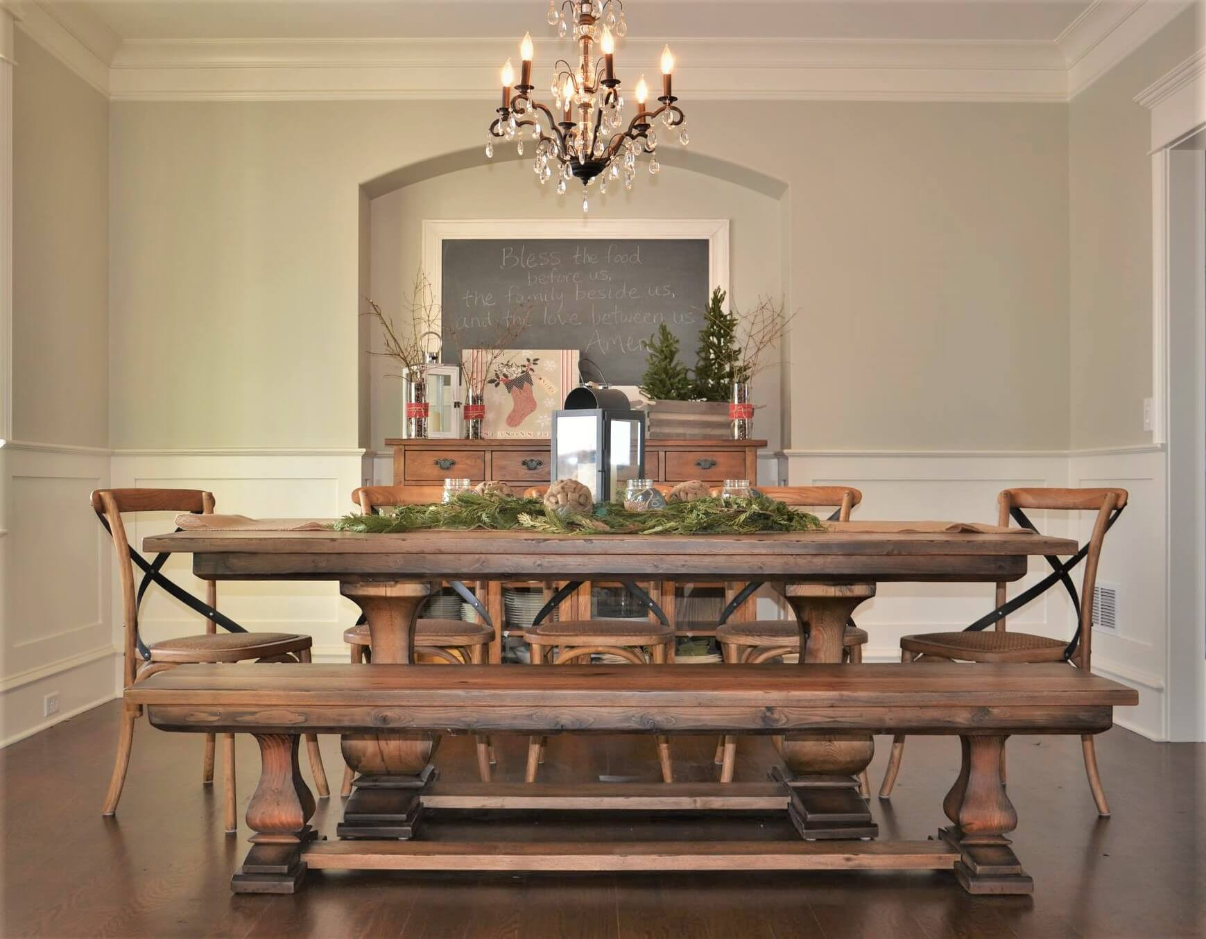 custom table for christmas