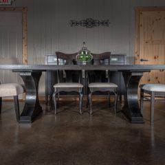 Rustic Elements Furniture - Crescent Pedestal