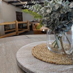 Rustic Elements Furniture - Tamara Pedestal Round Table