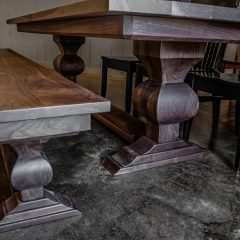 Rustic Elements Furniture Walnut Edison Pedestal Table