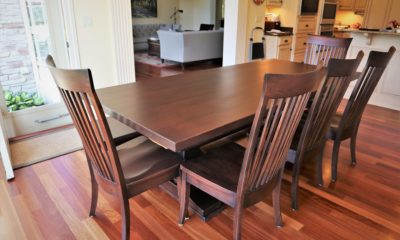 All solid wood matching dining set - Rustic Elements Furniture